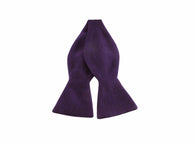 Purple Linen Bow Tie - Fine and Dandy