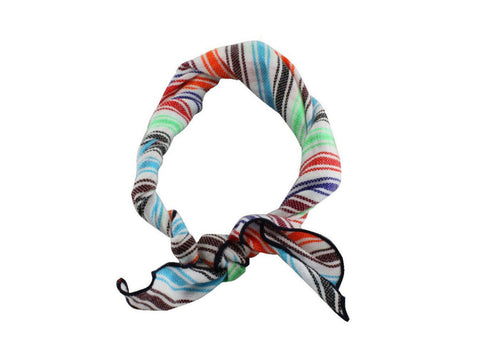 Candy Striped Cotton Neckerchief - Fine and Dandy