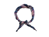 Blue & Pink Plaid Cotton Neckerchief - Fine and Dandy