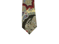 Large Paisley Print Cotton Tie