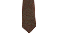 Brown Herringbone Wool Tie - Fine and Dandy