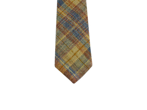 Autumnal Plaid Wool Tie - Fine and Dandy