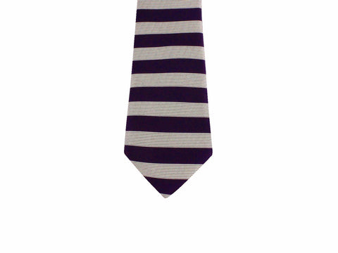 Purple Horizontal Striped Silk Tie - Fine and Dandy