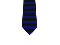 Blue Horizontal Striped Silk Tie - Fine and Dandy