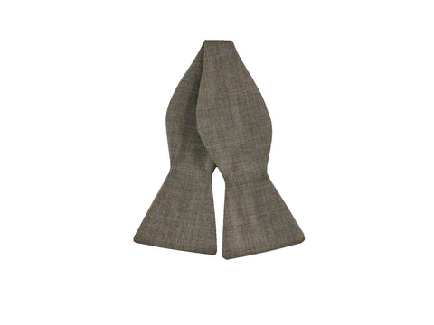 Sand Wool Bow Tie - Fine and Dandy