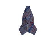 Paisley Striped Silk Bow Tie - Fine and Dandy
