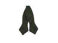 Hunter Green Check Wool Bow Tie - Fine and Dandy