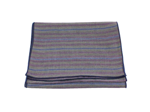Muted Striped Cotton Scarf
