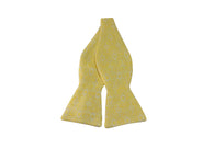 Canary Yellow Brocade Cotton Bow Tie - Fine and Dandy
