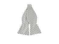 Black & White Polka Dot Cotton Bow Tie - Fine and Dandy