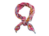 Pink Plaid Double Sided Neckerchief - Fine and Dandy