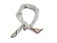 White 3-Colored Edge Linen Neckerchief - Fine and Dandy