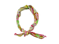 Watercolor Floral Cotton Neckerchief - Fine and Dandy