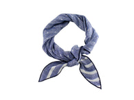 Blue Washed Double Sided Cotton Neckerchief - Fine and Dandy
