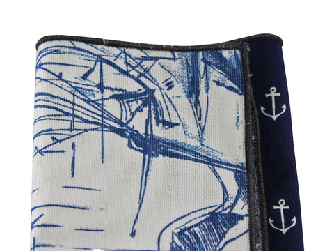 Nautical Panelled Cotton Pocket Square