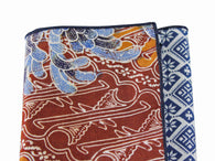Batik Panelled Cotton Pocket Square - Fine and Dandy
