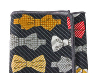 Bow Ties Cotton Pocket Square - Fine and Dandy