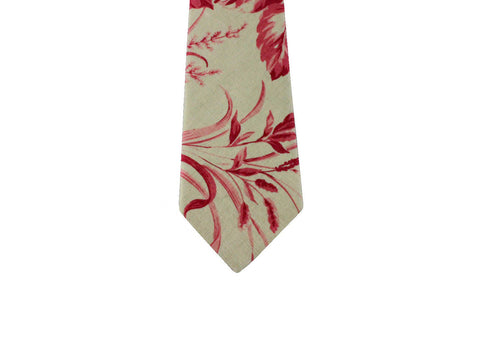 Floral Toile Linen Blend Tie - Fine and Dandy