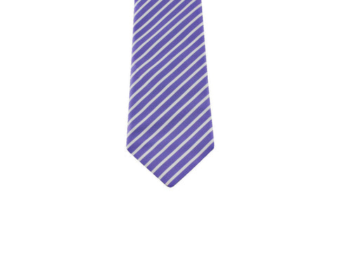 Periwinkle Striped Cotton Tie - Fine and Dandy