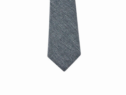 Slate Grey Linen Tie - Fine and Dandy