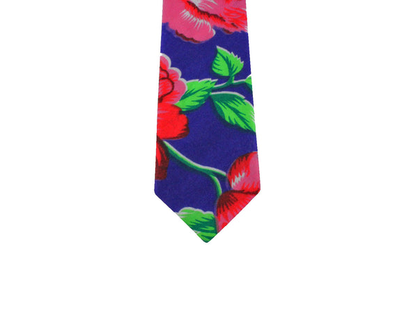 Bright Floral Cotton Tie - Fine and Dandy