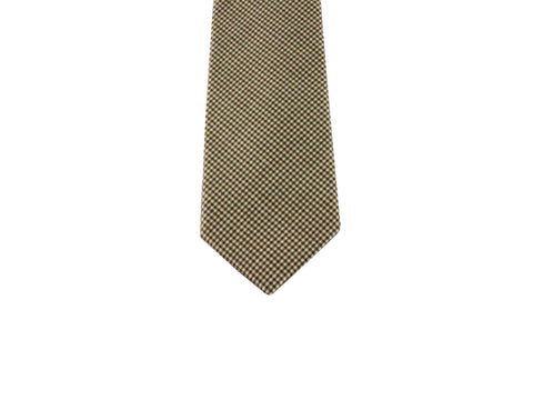 Brown Gingham Wool Tie - Fine and Dandy