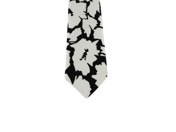 Rorschach Inkblot Floral Silk Tie - Fine and Dandy