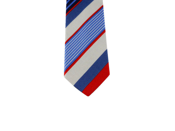 Nautical Striped Cotton Tie