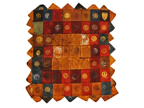Collegiate & State Seal Tobacco Leather Wall Hanging - Fine and Dandy