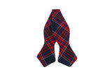 Red Tartan Wool Bow Tie - Fine And Dandy