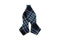 Blue Tartan Wool Bow Tie - Fine And Dandy