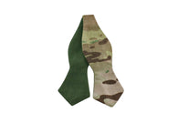 Camo & Green Canvas Reversible Bow Tie - Fine And Dandy