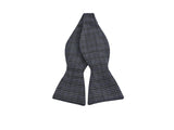 Blue Check Wool Bow Tie - Fine And Dandy