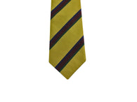 Gold Striped Silk Tie - Fine And Dandy