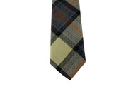 Tan Tartan Wool Tie - Fine And Dandy