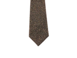 Brown Donegal Tweed Wool Tie - Fine And Dandy