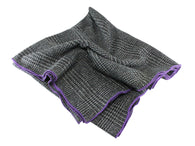 Black Glen Plaid Wool Blanket Scarf - Fine And Dandy