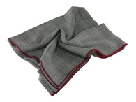 Grey Glen Plaid Wool Blanket Scarf - Fine And Dandy