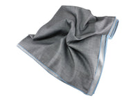 Silver Herringbone Cotton Blanket Scarf - Fine And Dandy