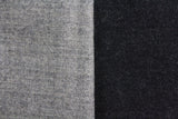 Black & Grey Wool Panelled Blanket Scarf - Fine And Dandy
