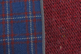 Blue Check & Burgundy Knit Panelled Scarf - Fine And Dandy
