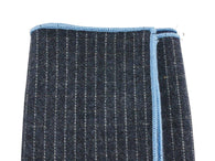 Grey Striped Wool Pocket Square - Fine And Dandy