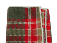 Red Plaid Flannel Pocket Square - Fine And Dandy
