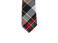 Red Tartan Wool Tie - Fine And Dandy