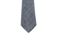 Blue Herringbone Linen Tie - Fine And Dandy