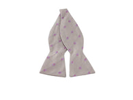 Lavender Florette Bow Tie - Fine And Dandy