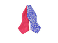 Periwinkle Floral & Pink Reversible Bow Tie - Fine And Dandy