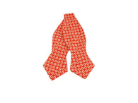 Orange Calico Print Bow Tie - Fine And Dandy