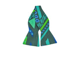 Green Garden Print Cotton Bow Tie - Fine And Dandy