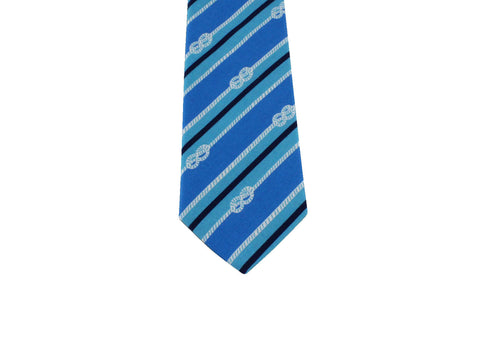 Blue Knots & Stripes Cotton Tie - Fine And Dandy